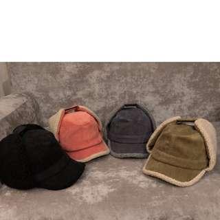 冬天加厚保暖雷鋒帽韓國新款羊羔毛飛行帽男女燈芯絨潮牌護耳帽子
