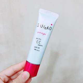 🈹(💯全新*包郵) SUGAO Air Fit CC cream SPF23/PA+++(#Pink Bright)25g