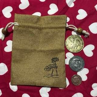 Instock Harry potter gringotts 3pc coin set + free bag