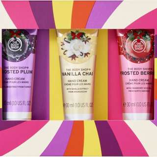 The Body Shop Seasonal Hand Cream Trio Gift Set