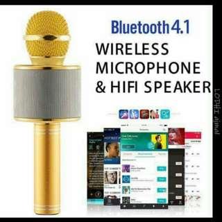 wireless hi fi sound Mic karaoke multiple