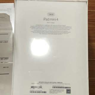 全新未開 有單 Ipad mini 4 128gb Wi-Fi+Cellular