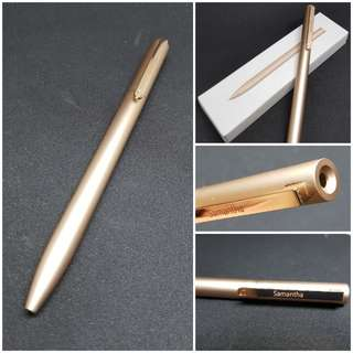 Laser engaving pen. Xiaomi pen (gold or sliver)