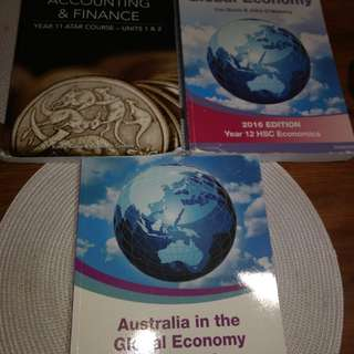 Accounting and Finance and Economics text books