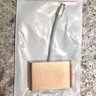 USB3.1C Multi Port Adapter (USB3.1C + VGA + USB)