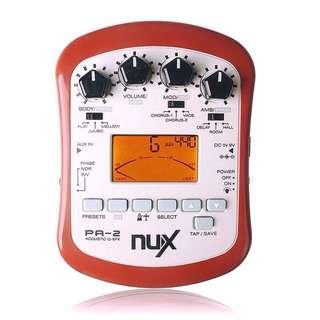 Nux PA-2 Portable Acoustic Guitar Multi Effects