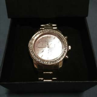 Geneva watch stainless silver and rose gold.