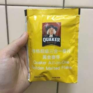 桂格 黃金麥芽超級三合一麥片 33公克 #舊愛換新歡