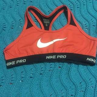 Nike pro sports bra for teens