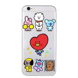 BTS BT21 ALL CHARACTERS PHONE CASE