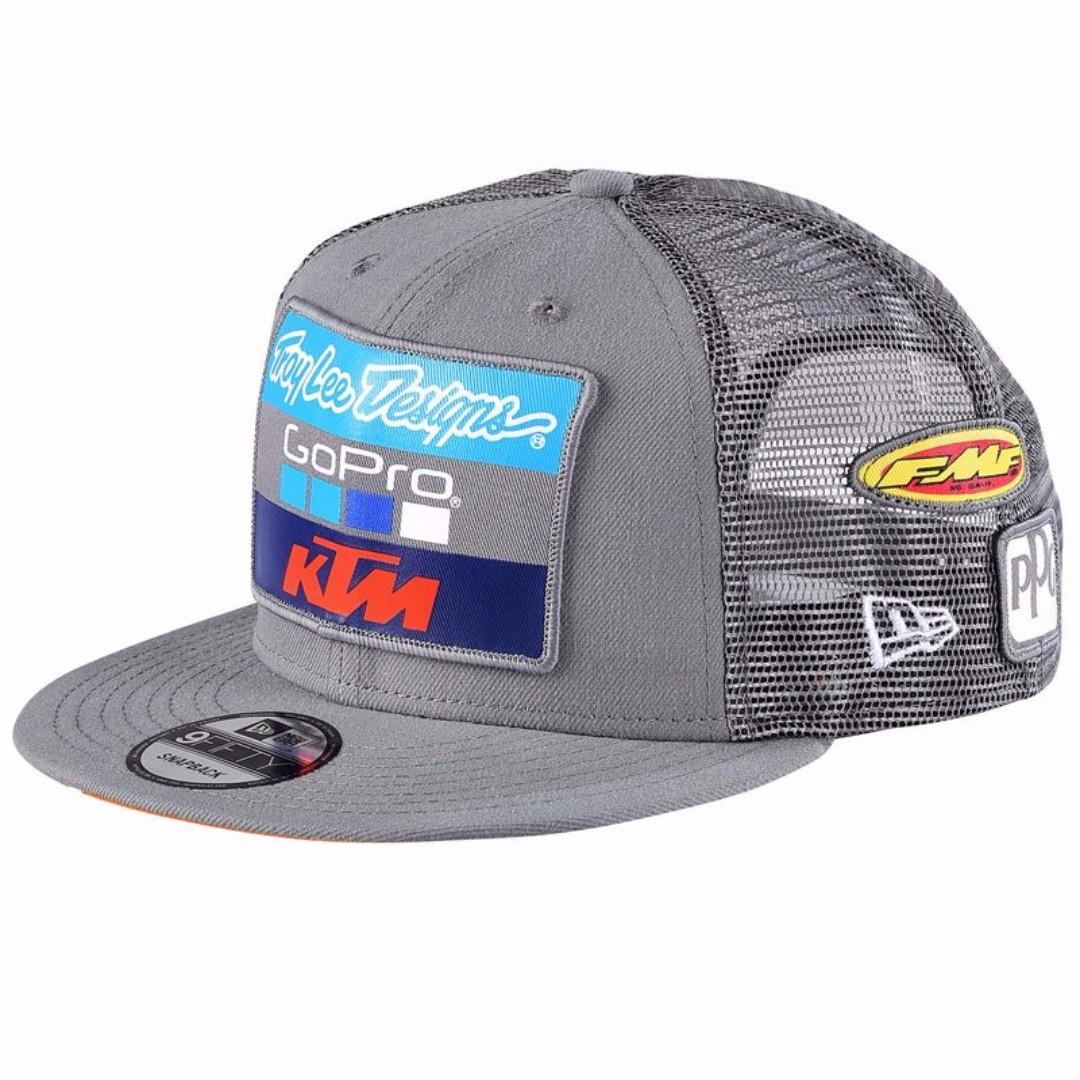 2017 KTM Troy Lee Designs New Era Snapback Cap (Gray) f3aa80e4981