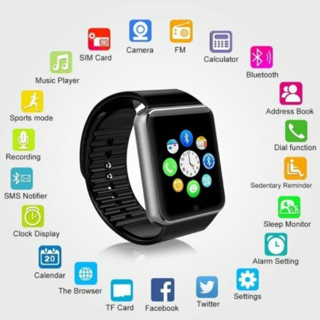 2018 TOUCH HD Smart Watch DZ09 with Camera Bluetooth Wristwatch for Android Phones NEW - Supports Up To 32GB Micro SIM Card NEW