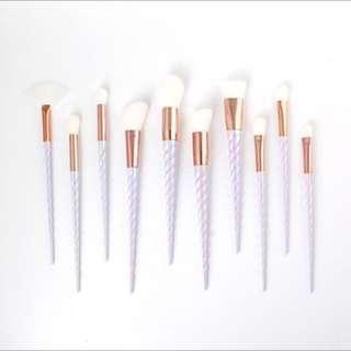 💥10 Piece Unicorn Pearl & Rose Gold Makeup Brush Set
