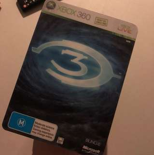 Halo 3 steelbox edition XBOX360 game