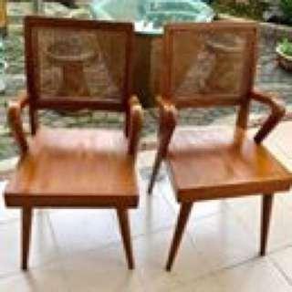 Retro Pencil leg Chairs