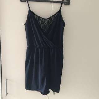 H&M divided Navy lace jumpsuit