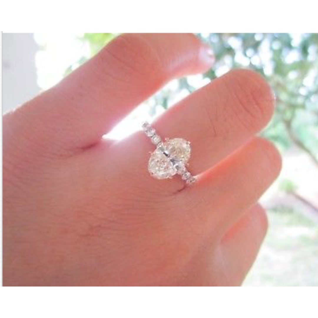 2.02 Carat Diamond Rose Gold Engagement Ring 18k, Preloved Women\'s ...