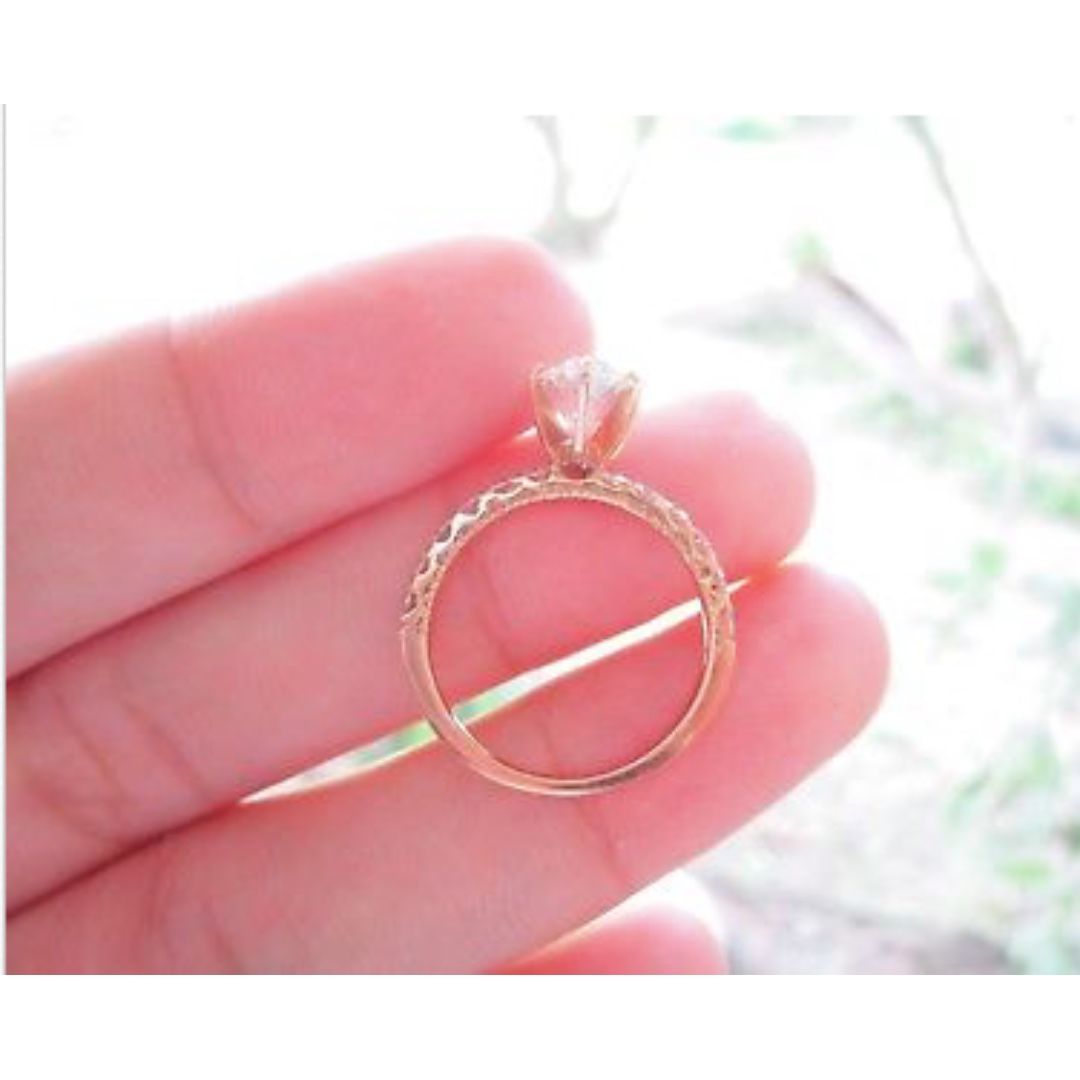 2.02 Carat Diamond Rose Gold Engagement Ring 18k, Preloved Women\'s ...