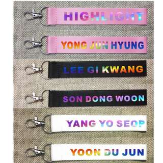 HIGHLIGHT ALL MEMBERS HOLOGRAM PHONE STRAP