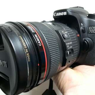 CANON 70D AND CANON ZOOM LENS EF 24-105mm 1:4 L IS USM *Fully Equipped