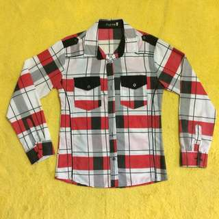 Checked Longsleeved Polo