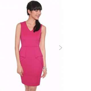 Love Bonito Darica Peplum Dress XS