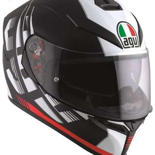 Selling AGV K-5 Darkstorm (S size)- used only once