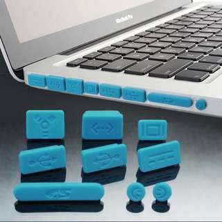 9 pcs silicone anti-dust ports cover dust plug for MacBook Pro laptop