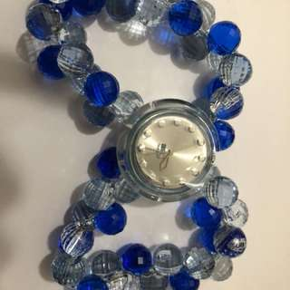 Swatch 水晶藍色手腕錶