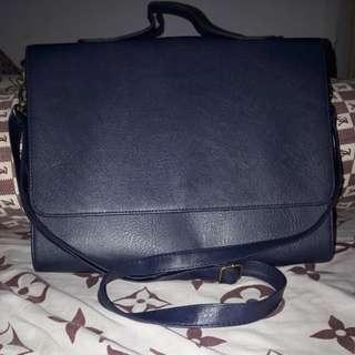 Navy blue korean mens bag