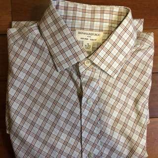 "Men's Medium Size Long sleeve shirt (collar 15.5"", sleeve length 30"")"