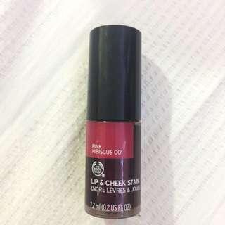 Body Shop lip & cheek stain in Pink Hibiscus