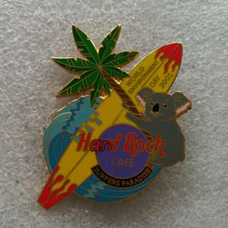 Hard Rock Cafe Pins ~ SURFERS PARADISE HOT 2001 WORLD ENVIRONMENTAL DAY EVENT PIN!