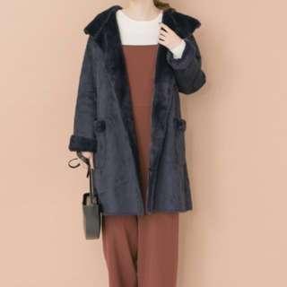 日本知名品牌Urban research 仿羊皮大衣 (可議價)