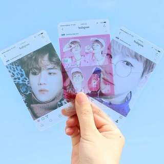 EXO BAEKHYUN TRANSPARENT CARDS