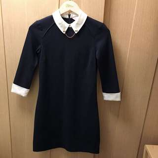 Ted Baker blue wubty contrast collar dress 👸🏻