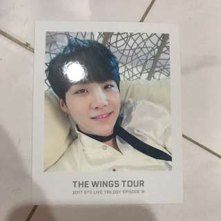 BTS TWT Ticket Album Photocard Suga