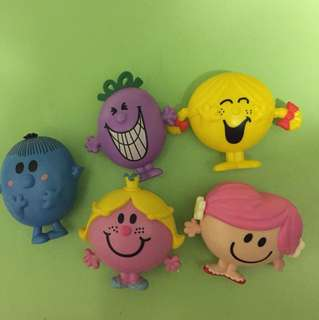 Mr. Men and little miss. Mcdonalds happy meal toys figure 麥當勞 開心樂園餐玩具