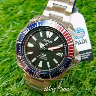 Seiko SRPB99K1 Padi Samurai Special Edition Prospex Watch 有PADI BOX