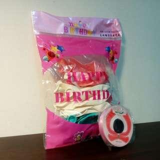 派對氣球*24顆+緞帶