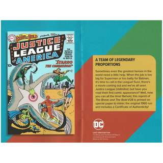 Loot Crate November 2017 Justice League First Appearance Official Reprint