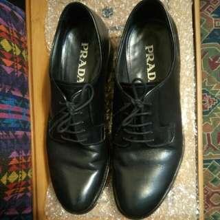 真品Prada 男士皮鞋 7號半