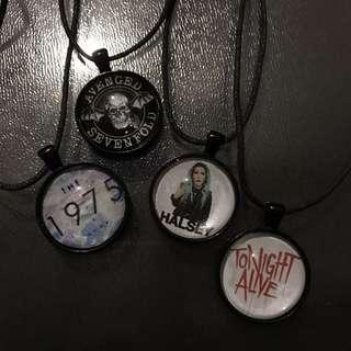 Band Pendant Necklaces