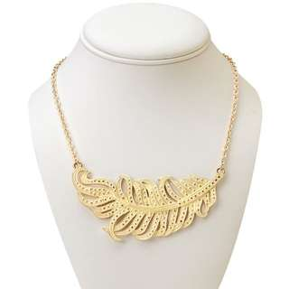 $7 Forever21 Necklace - Metal Feather