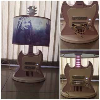 Hannah Montana Guitar MP3 Desk Lamp
