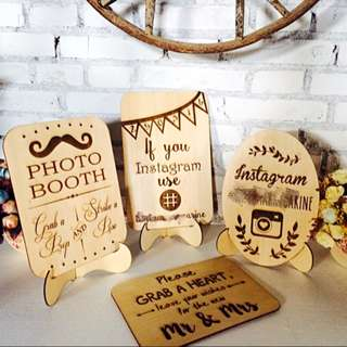 Photobooth Wooden Notice (WD019)