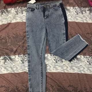 Two tone jeans bangkok premium quality