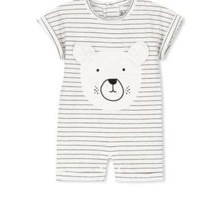 Baju Baby Murah - Cotton On Kids Romper - Stripey Bear