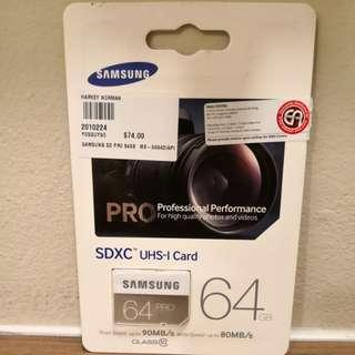 Brand New Samsung SDXC UHS-I Class 10 Card