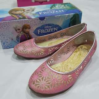 Disney frozen pink glitter shoes